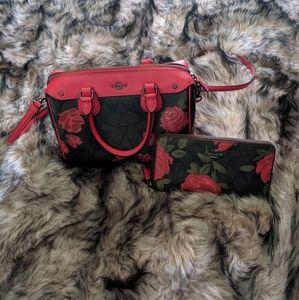 Bundle Coach floral wallet and bag